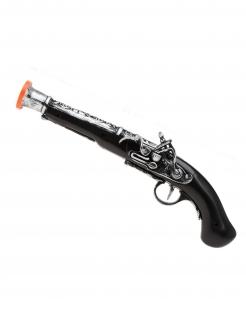 Kinder-Piratenpistole schwarz-silberfarben 35 cm