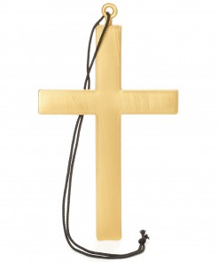 Kreuz für Nonne und Mönch Kruzifix Halloween Kostümaccessoire gold