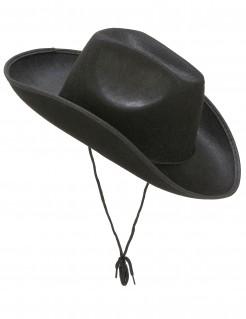 Cowboy-Hut für Erwachsene Accessoire Halloween schwarz