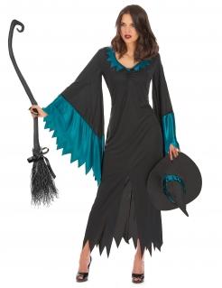 Zauberhafte Hexe Halloween Damenkostüm schwarz-grün