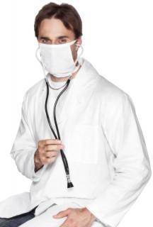 Stethoskop für erwachsene Horrorchirurgen schwarz