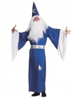 Zauberer-Kostüm für Herren Halloweenkostüm blau-weiss