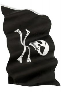Piratenflagge mit Totenkopf schwarz-weiß 152x91cm