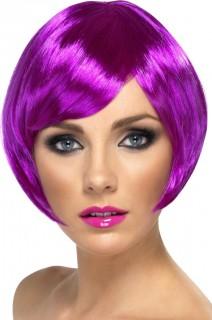 Damen Faschings-Perücke lila