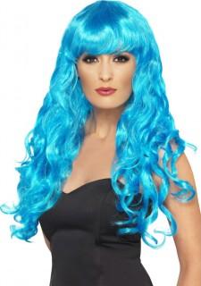 Schillerlocken Perücke Kostüm-Zubehör blau