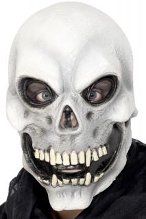 Skull Totenkopf Maske Halloween grau