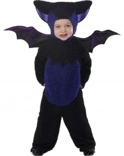 Fledermaus Halloween-Kinderkostüm schwarz-lila
