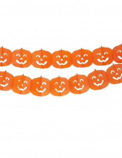 Kürbis Girlande Halloween Party-Deko schwer entflammbar orange 300x19,5cm