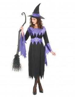 Zauberhafte Hexe Damenkostüm Märchen schwarz-lila