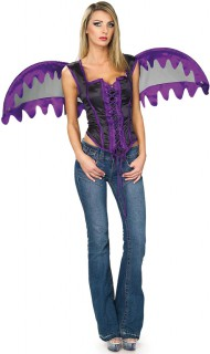 Engelskostüm für Damen Halloween violett