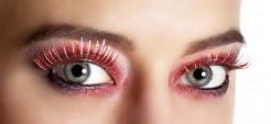 Künstliche Wimpern rot-silber