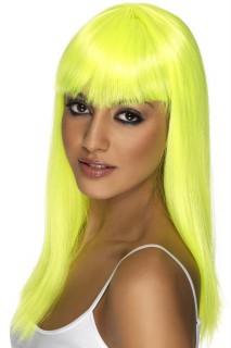 Karneval Damen-Perücke gelb