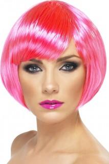 Damen Halloween-Perücke pink