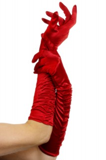 Lange Handschuhe Halloween rot