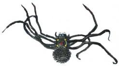 Riesen Halloweenspinne Raumdekoration Halloween schwarz 48cm