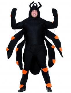 Spinne Halloween-Kostüm schwarz-orange