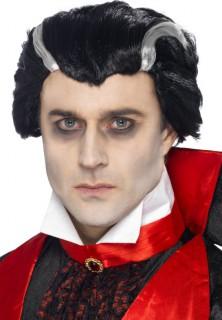 Vampir-Perücke Halloween Kostümaccessoire schwarz-weiss