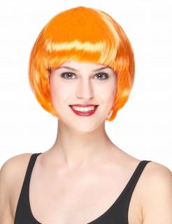 Kurze Damenperücke Bob-Frisur orange