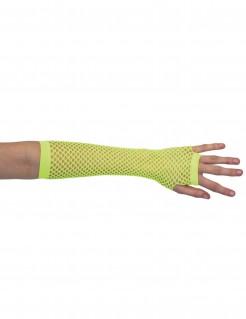 Netz-Armstulpen, neon-gelb