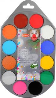 Schmink-Palette 12 Farben Wasser-Make-up bunt 48g