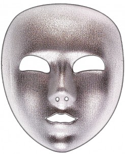 Venezianische Maske Vollmaske silber