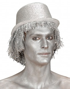 Make-Up Glitzer silber 30g