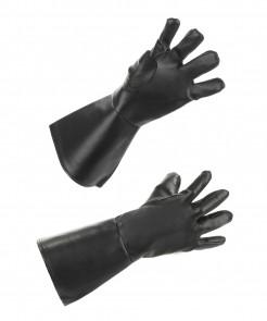 Henker-Handschuhe Halloween-Handschuhe schwarz