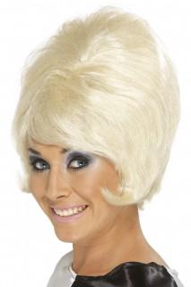 Beehive Halloween Perücke blond
