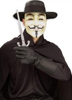 V wie Vendetta™-Kostümset 8-teilig beige-schwarz