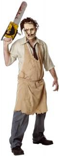 Texas Chainsaw Massacre Leatherface-Halloweenkostüm Lizenzartikel beige-hautfarben