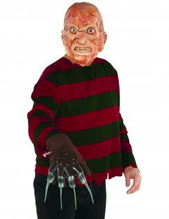 Freddy Krüger Nightmare on Elm Street Halloween-Kostüm rot-schwarz