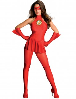 Deluxe Flash™-Damenkostüm rot-gelb-weiss