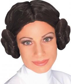 Prinzessin Leia offizielle Perücke von Star Wars™ schwarz
