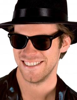Dunkle Retro-Brille für Erwachsene Halloween-Accessoire schwarz