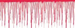 Bluttropfen Bordüre Halloween-Deko rot 610 x 30,5 cm