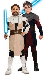 Anakin Skywalker™ und Obi-Wan Kenobi™ Star Wars™-Kinderpaarkostüm bunt