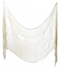 Halloween Deko-Fetzen-Tuch beige 75x300 cm