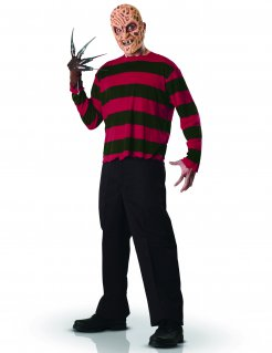 Freddy Krueger Halloweenkostüm Horrorfilm Lizenzware rot-grün