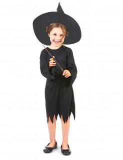 Freche Hexe Halloween-Kinderkostüm schwarz