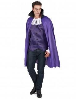 Graf Dracula Vampir Kostüm für Männer lila-weiss