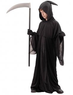 Kleiner Sensenmann Halloween-Kinderkostüm schwarz