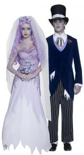 Gothic-Brautpaar-Kostüm für Halloween bunt