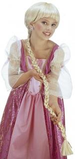 Lange Zopfperücke für Kinder blond