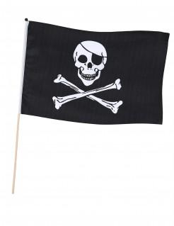 Piraten-Flagge mit Totenkopf schwarz-weiß 75cm