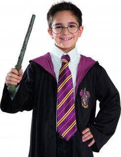 Harry Potter Zubehör-Set Zauberstab und Brille für Kinder 2-teilig braun-silberfarben