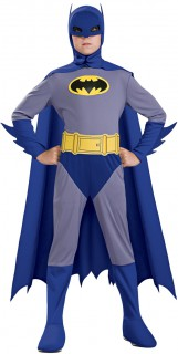 Batman™-Kostüm für Jungen Halloweenkostüm blau-gelb