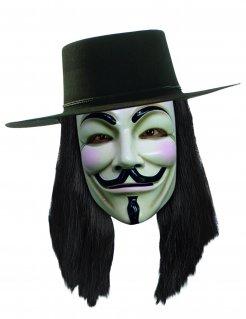 V wie Vendetta™-Perücke Lizenzartikel schwarz