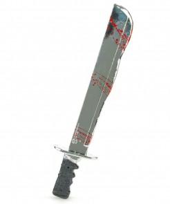 Machete Jason Freitag der 13. Horror-Waffe mit Soundeffekt grau-rot 55cm