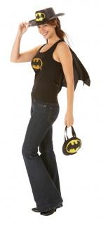 Batgirl™-Lizenzkostüm für Damen Batgirl-Oberteil Superheldin schwarz