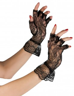 Handschuhe fingerlos schwarz